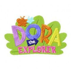 Dora the Explorer Logo embroidery design
