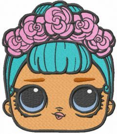 Lol Surprise doll face embroidery design