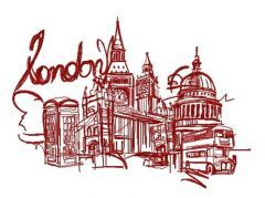 London 7 embroidery design
