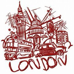 London 9 embroidery design