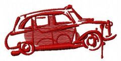 London car free embroidery design