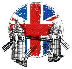 London England 3 embroidery design