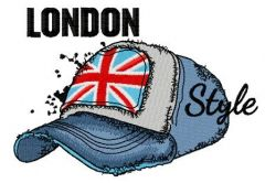 London style: cap embroidery design