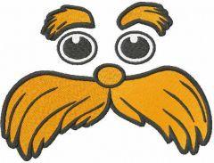 Lorax muzzle embroidery design