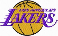 Los Angeles Lakers logo embroidery design