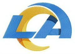 Los Angeles Rams logo embroidery design
