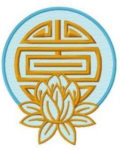 Lotus 3 embroidery design