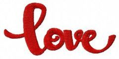 Love 5 embroidery design