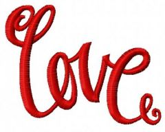 Love 6 embroidery design