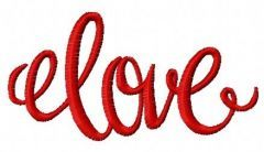Love 7 embroidery design