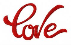 Love 8 embroidery design
