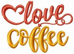 Love coffee 2 embroidery design