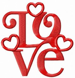 Love decoration 3 embroidery design