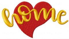 Love home embroidery design