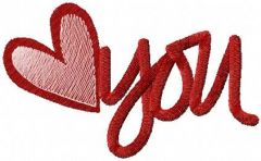 Heart for you embroidery design