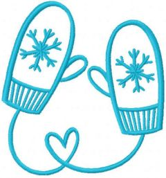 Loving mittens free embroidery design