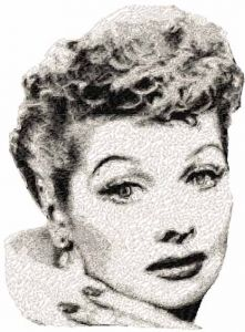 Lucille Ball embroidery design