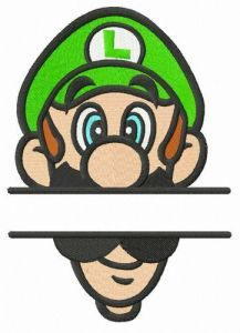 Luigi monogram embroidery design
