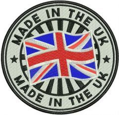 Made in the UK embroidery design