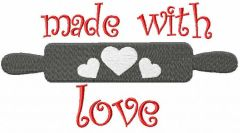 Made with love 3 embroidery design