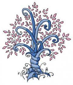 Magic tree 5 embroidery design