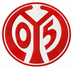 Mainz 05 logo embroidery design