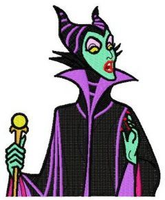 Maleficent 3 embroidery design