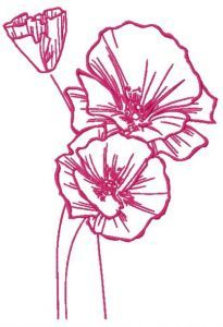 Mallow 2 embroidery design