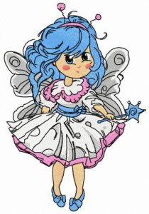 Malvina fairy embroidery design