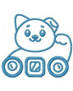 Maneki Neko embroidery design