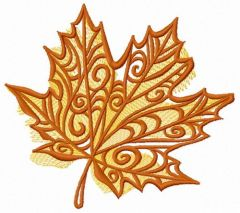 Maple leaf 2 embroidery design