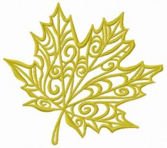 Maple leaf 3 embroidery design