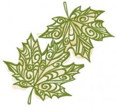 Maple leaves 2 embroidery design