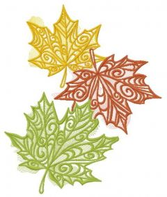 Maple leaves 5 embroidery design