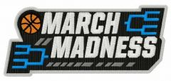 NCAA March Madness logo embroidery design