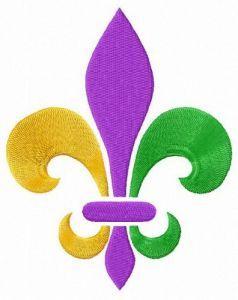 Mardi Gras Fleur-de-lis embroidery design