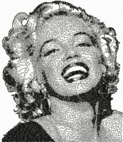 Marilyn Monroe 1 embroidery design