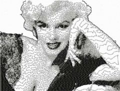 Marilyn Monroe 2 embroidery design