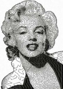 Marilyn Monroe 3 embroidery design
