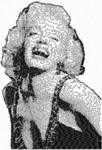Marilyn Monroe 6 embroidery design