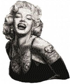 Marilyn Monroe 8 embroidery design