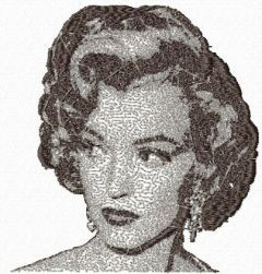 Marilyn Monroe 4 embroidery design
