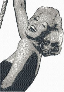 Marilyn Monroe embroidery design