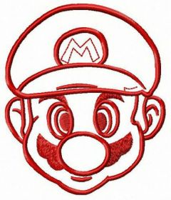 Mario face 2 embroidery design