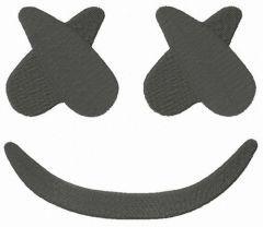 Marshmello smile embroidery design