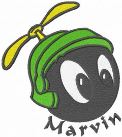 Marvin head embroidery design