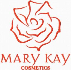 Mary Kay cosmetics logo embroidery design