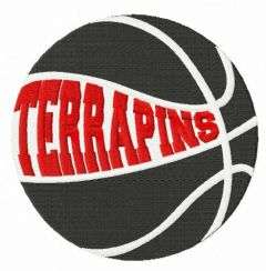 Maryland Terrapins basketball logo embroidery design