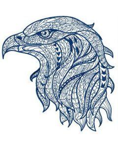 Mosaic eagle 3 embroidery design