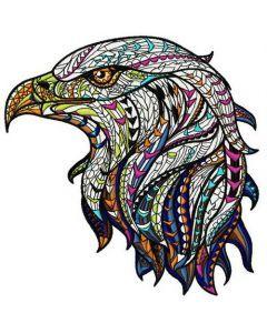 Mosaic eagle embroidery design
